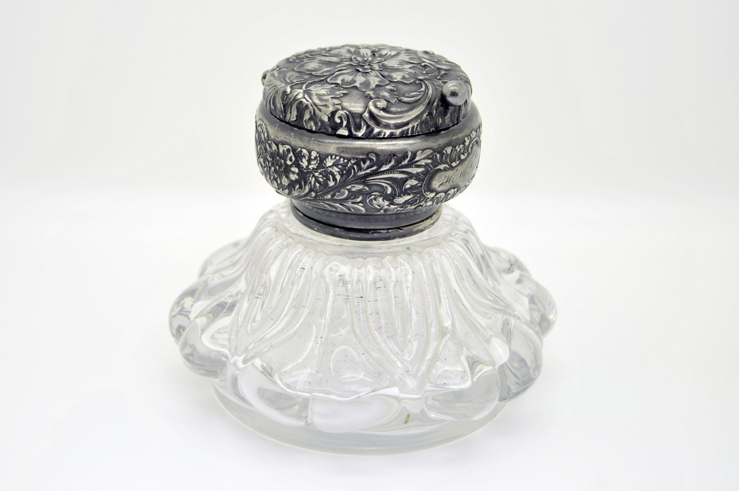Encrier de style Victorien de fabrication anglaise de 1880.