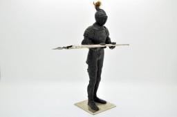 Encrier en bronze polychrome en armure de chevalier