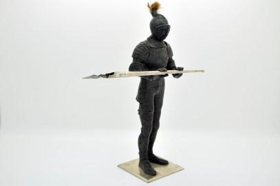 Inkwell polychrome bronze knight's armor