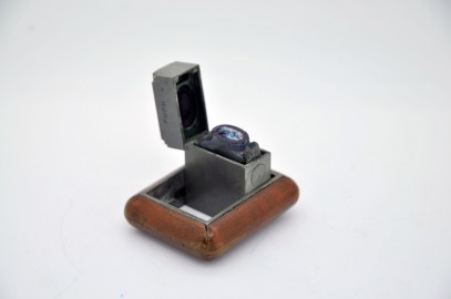 Lead Marine travel inkwell and mahogany