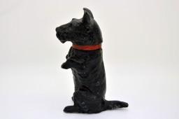 Encrier en regule polychrome - chien style scottish