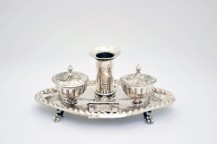 Writing set in solid silver French early nineteenth