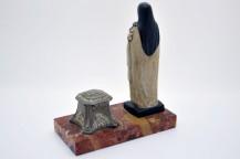 Encrier original des annees 30 avec la vierge Marie