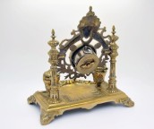 Encrier original et pendule en bronze