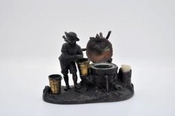 Inkwell bronze patina XIXe
