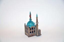 Encrier en forme de mosquée XXe