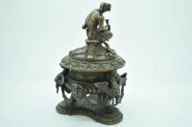 Encrier Faune en bronze - diable musicien