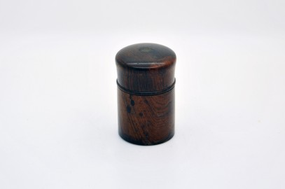 Travel Inkwell late nineteenth wood Macassar