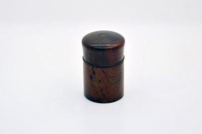 Encrier de voyage fin XIXe en bois de Macassar