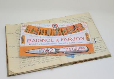 Plateau de plumes Baignol & Farjon de 1900