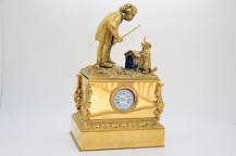 Inkwell gilt bronze clock Empire period