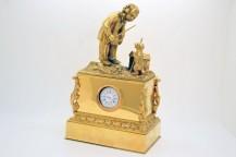 Encrier pendule en bronze doré d'époque Empire