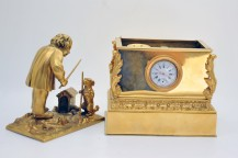 Inkwell gilt bronze clock Empire period