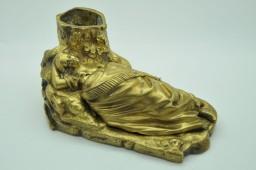 Encrier érotique ou pyrogène en bronze XIXe