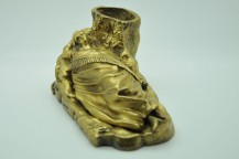 Erotic or pyrogenic inkwell in bronze nineteenth