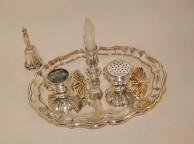 silver plated brass inkwell XVIIIe