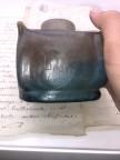 Encrier DAUM en pate de verre marmoréen 1900