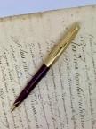 Fountain pen cartridge has Scheaffer