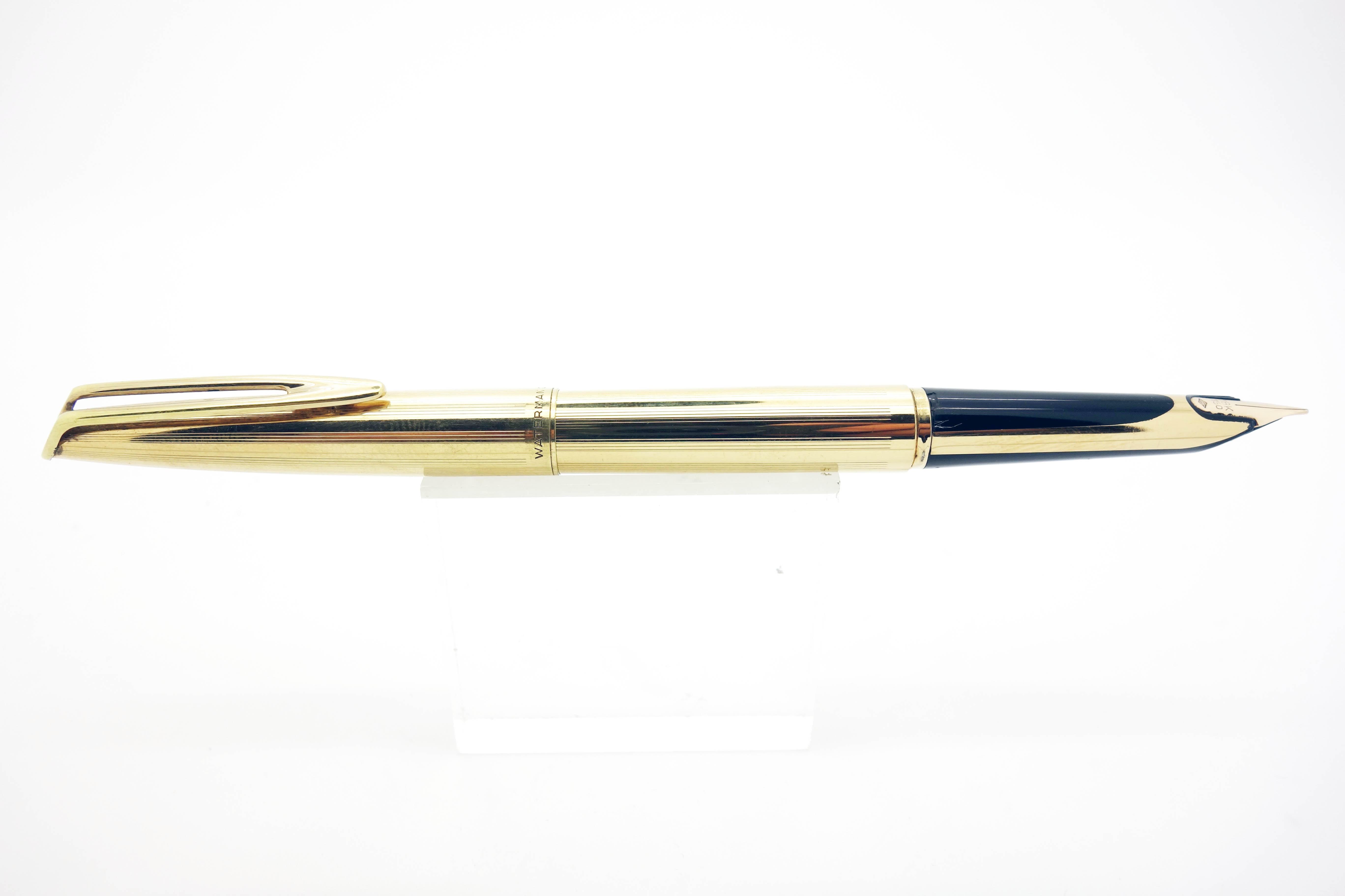 3806c9db71e Stylo plume Waterman CF plaqué or